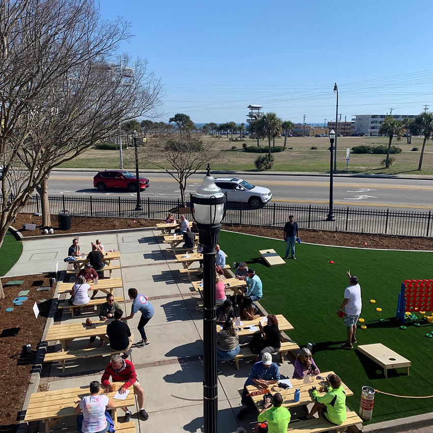 Grand Stand Brewing Company outdoor space and location